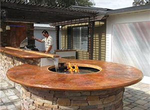 See Photos Of Outdoor Concrete Countertops