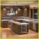 Clean seamless kitchen concrete countertop