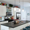 Dark grey concrete kitchen island