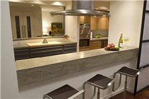 Concrete Countertop with 9 Inch Drop Nose Feature